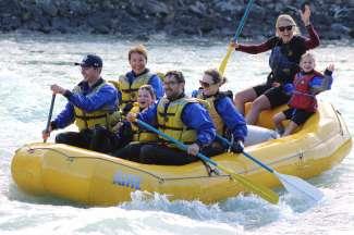 Raften op de Athabasca rivier