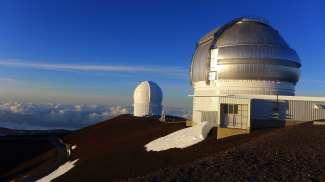 Het Mauna Kea obervatorium, een van de belangrijkste observatoriums op 4200 m hoogte.