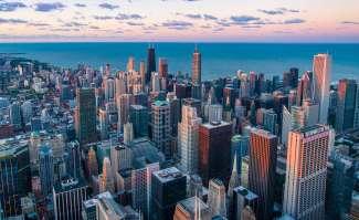 De indrukwekkende skyline van Chicago