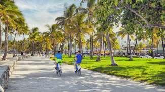 In South Beach ligt het Art Deco District met de prachtige gebouwen in Art Deco stijl.