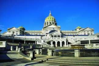 De hoofdstad van Pennsylvania is Harrisburg.