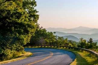 De Great Smoky Mountains liggen op de grens tussen North Carolina en Tennessee.