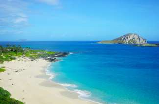 Makapu'u Beach ligt aan het uiterst oostelijke punt van Oahu.