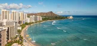 Uitzicht over Waikiki op Diamond Head