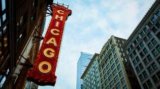 Het Chicago Theatre is gebouwd in 1921 en heette eerst  Balaban and Katz Chicago Theatre.