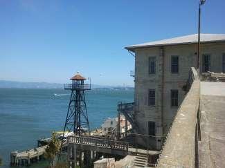 Op Alcatraz stonden verschillende wachttorens en ook een vuurtoren, welke de oudste is aan de westkust.