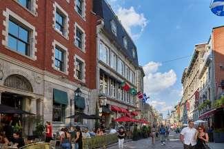 De straten van Montreal ademen een Europese sfeer uit.