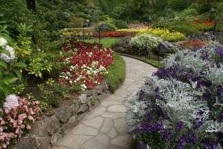 The Butchart Gardens is 100 jaar geleden door Jennie Butchart in een voormalige steengroeve aangelegd.