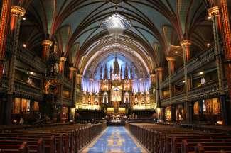 Een indrukwekkende kathedraal om te bezoeken in Montreal.