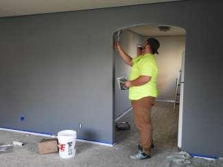 Bij het verbouwen van een huis hoort ook schilderen.