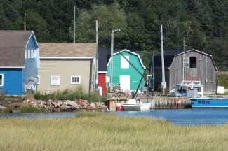 De kleurrijke boothuisjes van Prince Edward Island.