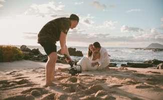 Trouwen aan een tropisch strand met een unieke fotoreportage.