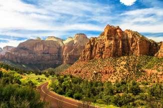 Zion National Park in Utah is het 1e nationale park in de staat.