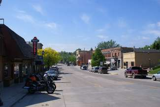 Het centrum van Buffalo straalt nog een authentieke Western sfeer uit.