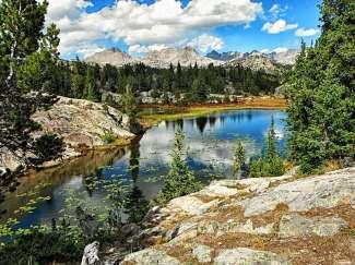 De Big Horn Mountains liggen op de grens tussen Wyoming en Montana.