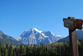 Mount Robson is de hoogste berg in de Canadian Rockies.