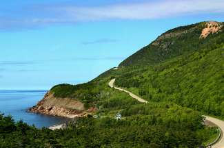Fantastische schilderachtige weg in Nova Scotia
