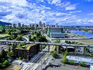 De bruisende stad Portland