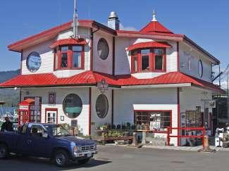 Pittoresk havengebouw in Prince Rupert, British Columbia, Canada.