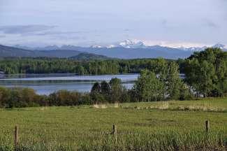 Mooi landschap in de bergen van Canada.