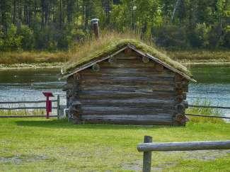 Deze pioniershuisjes vindt u veel in de omgeving van 100 Mile House.