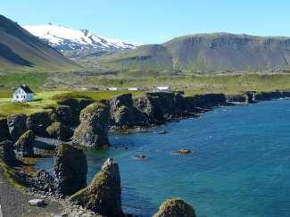 Schiereiland Snæfellsnes ligt  tussen de Faxaflói baai en de Breiðafjörður fjord boven Reykjavik.