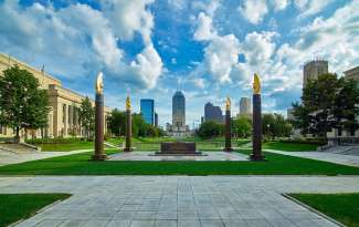 Indiana World War Memorial Plaza in Indianapolis