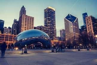 iconisch beeldhouwwerk in Chicago