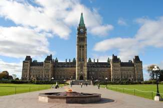 Parliament Hill is de populairste bezienswaardigheid van Ottawa.