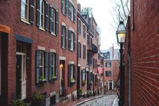 Acorn Street in de wijk Beacon Hill is de meest gefotografeerde straat van Amerika.