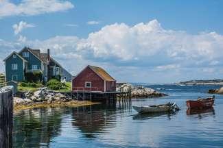 Peggy's Cove is een kleine vissersgemeenschap aan de Atlantische Kust.
