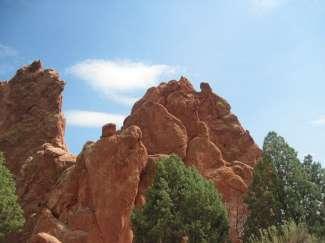 De Garden of the Gods Park staat bekend om de prachtige zandsteenformaties.