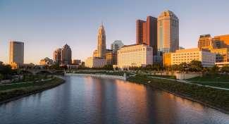 De skyline van Columbus