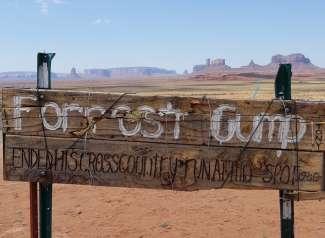 Vlak voor Monument Valley, eindigde Forrest Gump zijn lange run door de USA