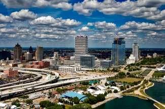 De Skyline van Milwaukee