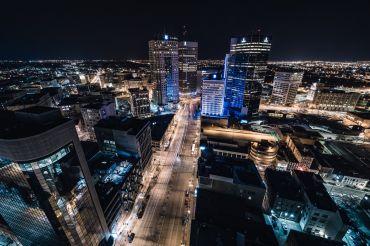 Winnipeg vanaf boven