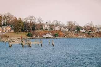 De baai aan de Atlantische Oceaan waar Annapolis is gevestigd