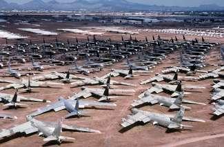 In de directe omgeving van Tucson ligt 's werelds grootste vliegtuigkerkhof