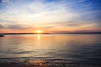 Het kan niet romantischer zijn. South Carolina heeft ook prachtige zonsondergangen.