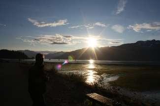 Zonsondergang in Valdez