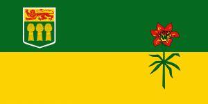 de vlag van Saskatchewan