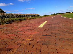 Brick Paved Road Route 66