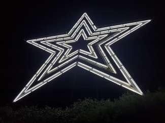 """Het stadssymbool de """"Roanoke Star"""""""