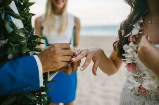 Ceremonie op het strand