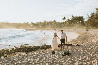 Trouwen Shipwreck Beach Kauai