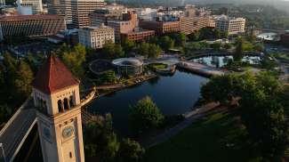 Riverfront park in Spokane