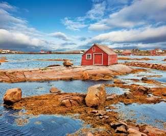 Kantelen, Fogo Island in Newfoundland en Labrador, Canada