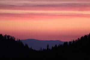 Zonsondergang Lassen National Park