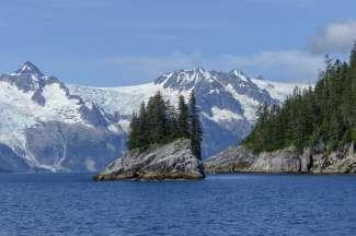 Er zijn verschillende gletsjers op het schiereiland Kenai.