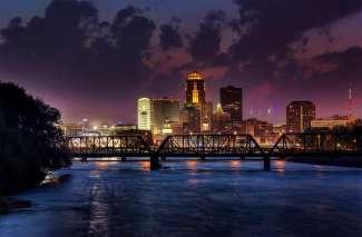 De hoofdstad van de staat Iowa in Amerika